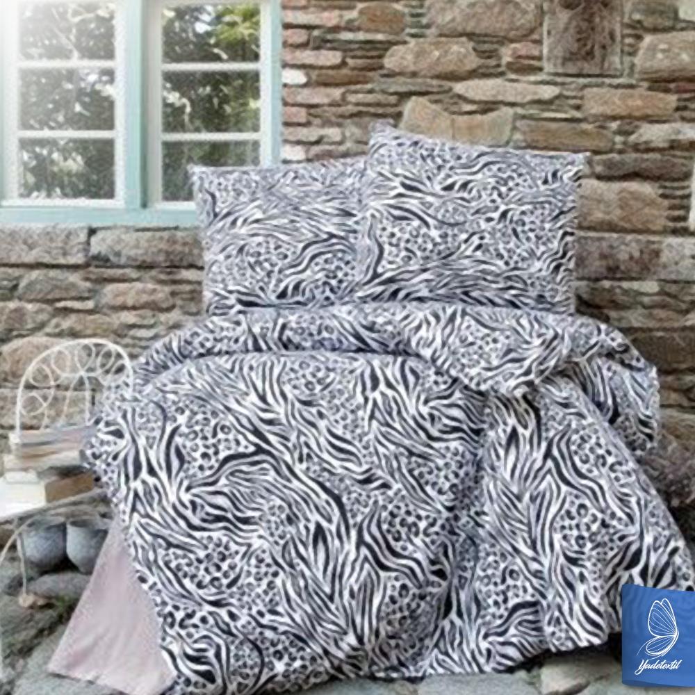 flanell winter bettw sche 155x220 cm zebra ebay. Black Bedroom Furniture Sets. Home Design Ideas